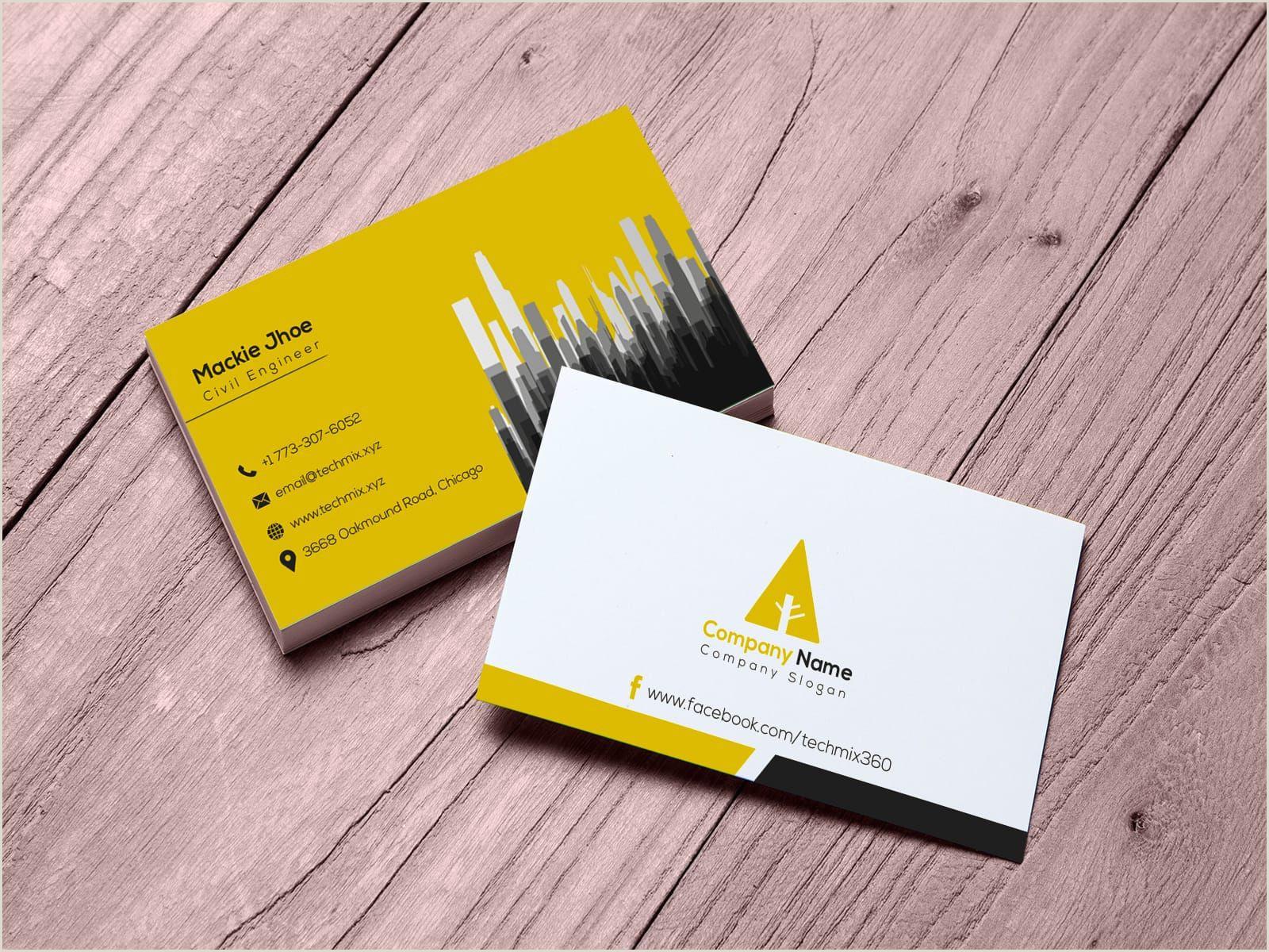 Visting Card 10 Civil Engineer Business Cards Images