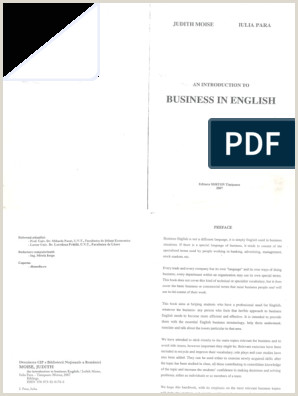Visting Card A Business In English