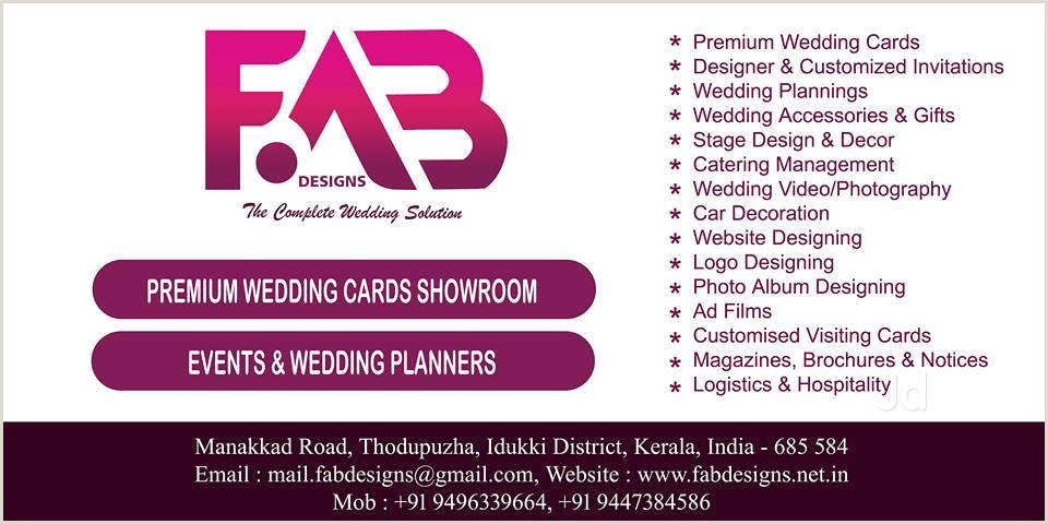 Visting Card Indian Wedding Planner Visiting Card Design