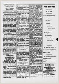 Visting Card The Weekly Messenger [volume] St Martinsville [i E St