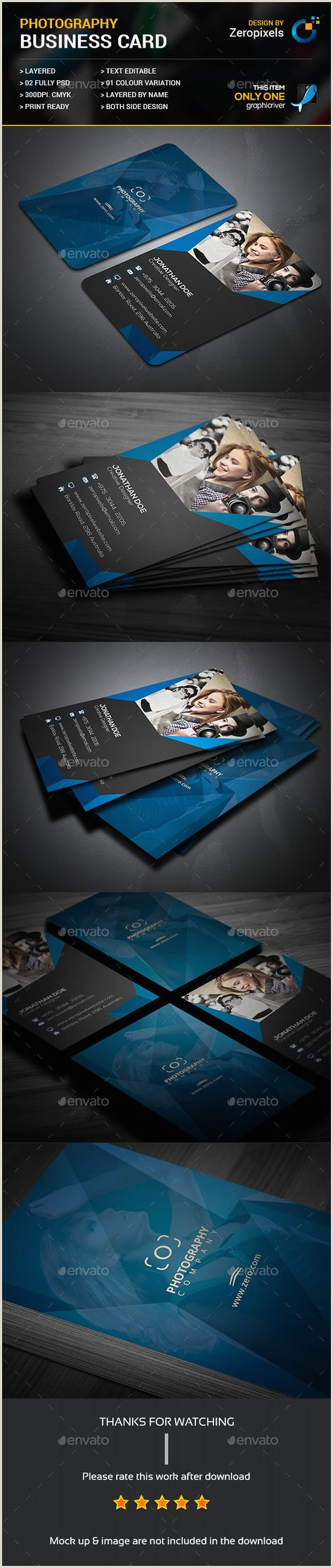 Website For Business Cards Graphy Business Cards Template Free 70 Trendy Ideas
