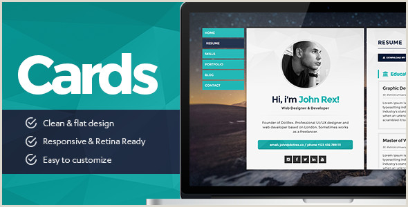 Website For Business Cards HTML Business Card Website Templates From Themeforest