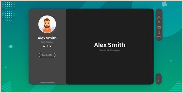Website On Business Card 2020 S Best Selling HTML Business Card Website Templates