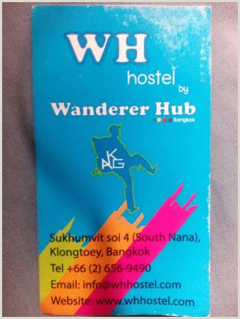 Website On Business Card Business Card Wh Hostel Picture Of Wh Hostel Bangkok