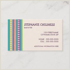 What Information To Put On A Business Card 100 Best Babysitting Business Cards Images In 2020