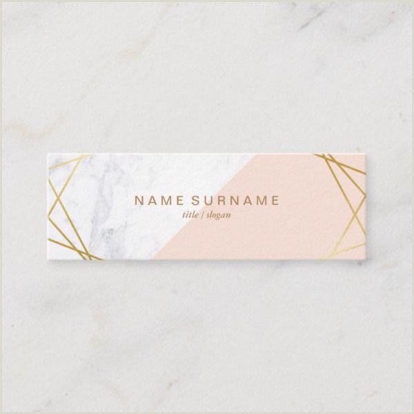 What Information To Put On A Business Card Geometric Marble Gold Lightpink Mini Business Card