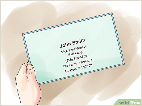 What Information To Put On A Business Card How To Design An Effective Business Card 13 Steps With