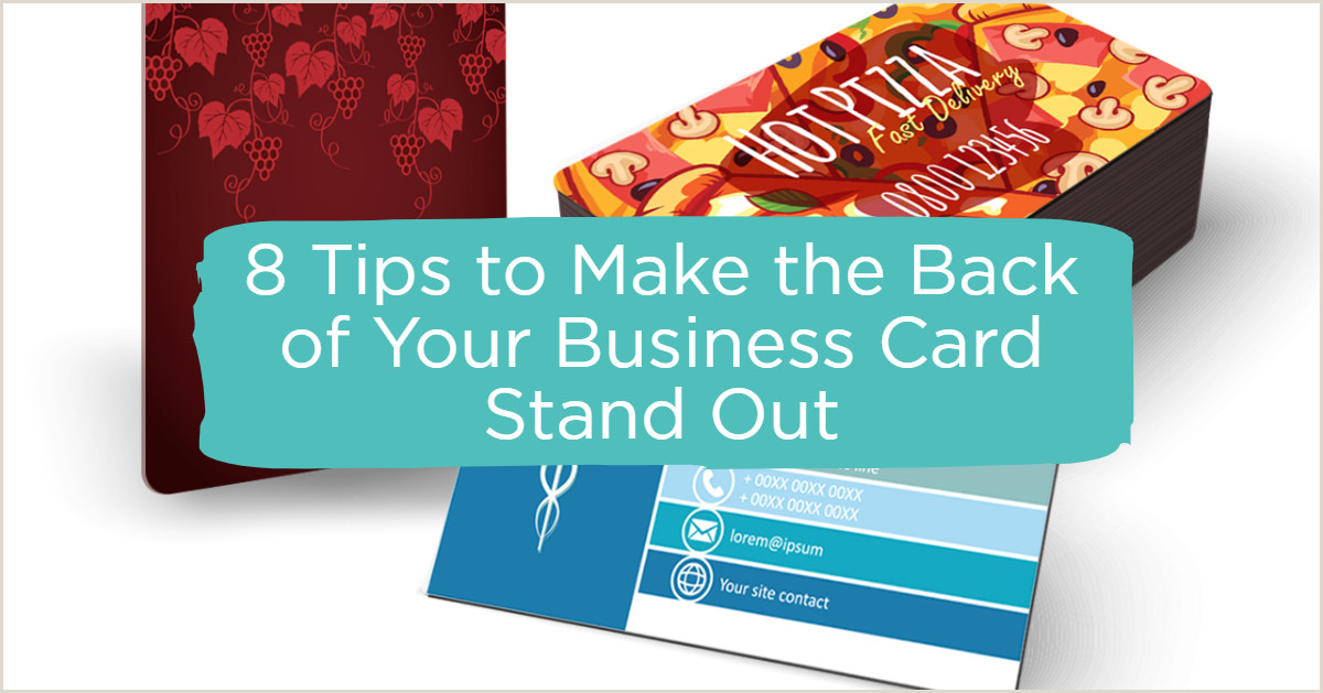 What To Put On The Back Of Your Business Card 8 Tips To Make The Back Of Your Business Card Design Stand Out