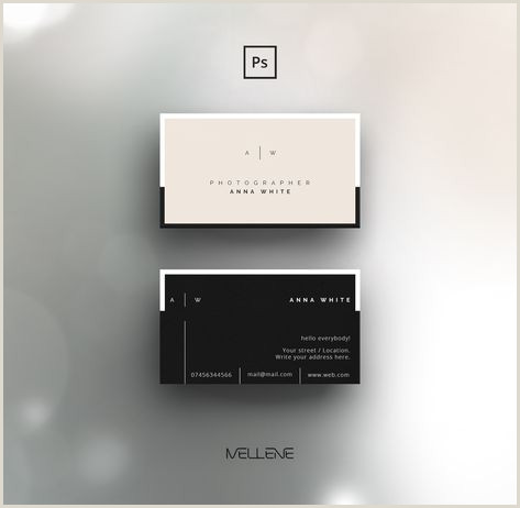 Where To Leave Business Cards Business Card Template For Adobe Shop Psd File