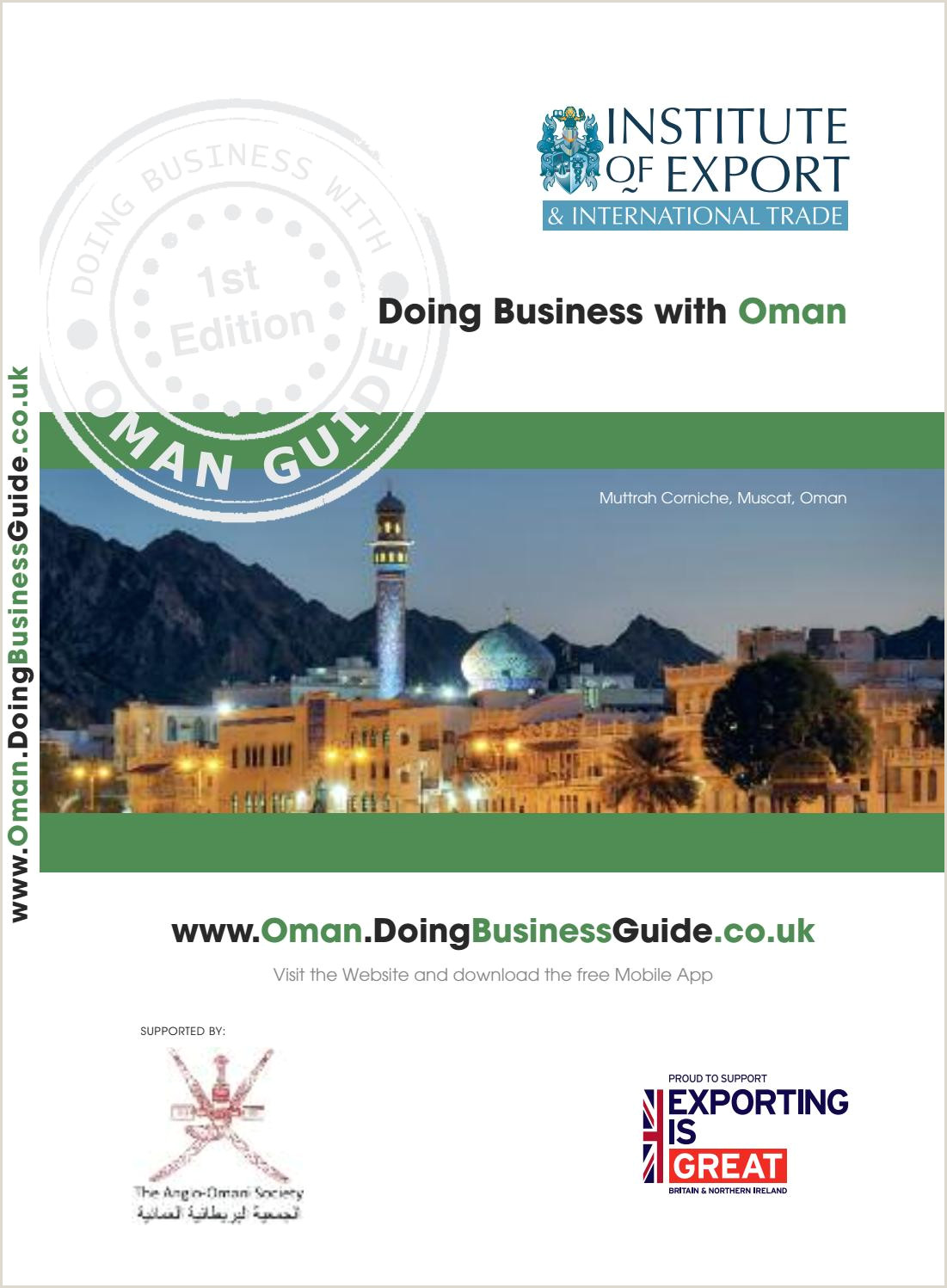 Where To Leave Business Cards Doing Business With Oman Guide By Doing Business Guides Issuu