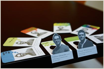 """Where To Leave Business Cards Print Media Thinking Outside The """"template"""" Box"""