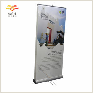 """Wholesale Retractable Banner Stand 33"""" Double Sided Roll Up Retractable Banner Stand With Vinyl Prints"""
