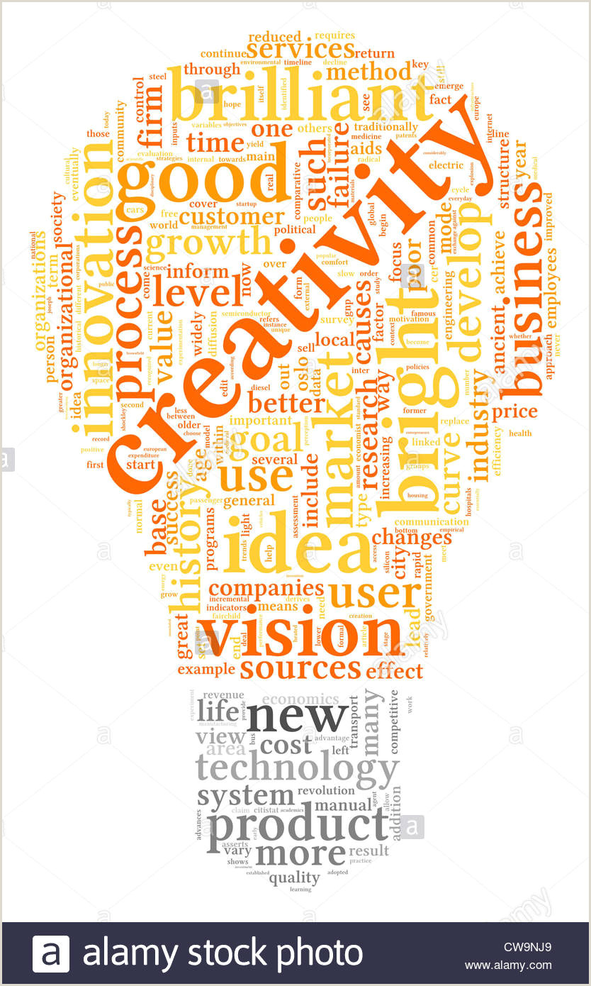 Words Related To Creativity And Design Creativity Concept Related Words In High Resolution Stock