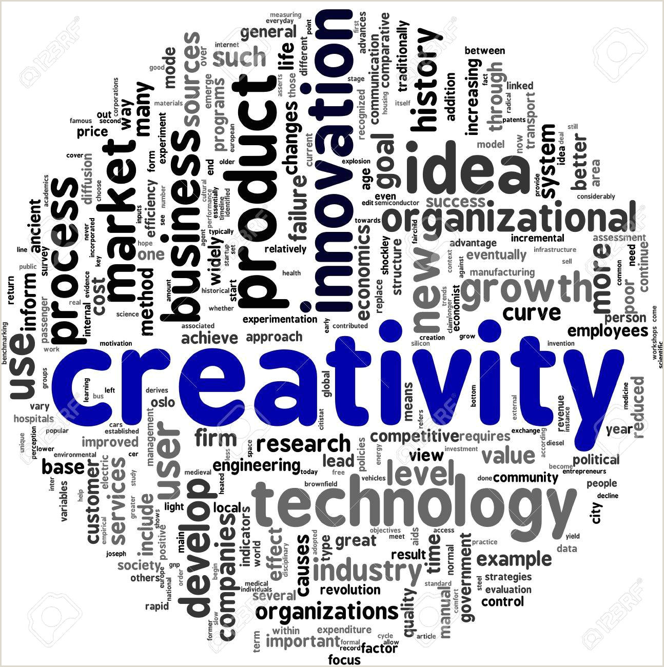 Words Related To Creativity And Design Creativity Concept Words In Tag Cloud