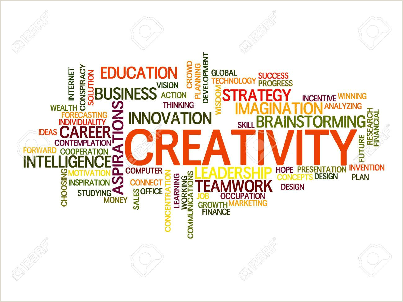 Words Related To Creativity And Design Creativity Words Concept In Word Tag Cloud