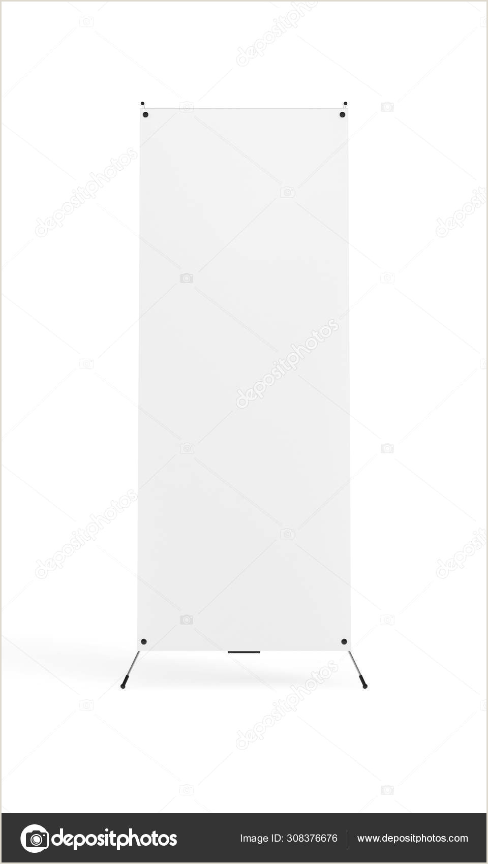 X Banner Stands Blank Banner X Stand Isolated On White Background Front View 3