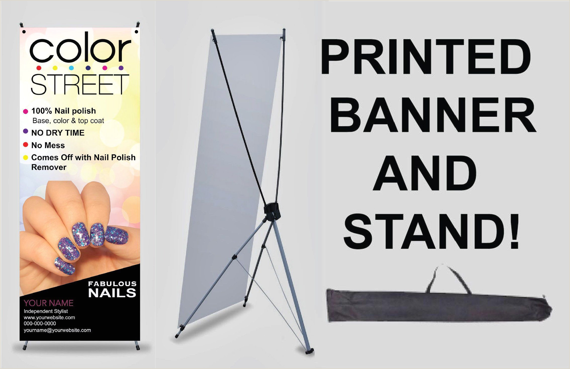 X Banner Stands Color Street Banner With X Stand Great Way To Promote Your