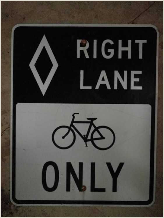 X Out Sign Vintage Roadway Bike Sign Right Lane Bicycles Ly