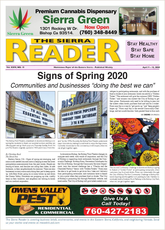 Yakima Best Business Cards Espanol The Sierra Reader April 09 2020 By The Sierra Reader Issuu