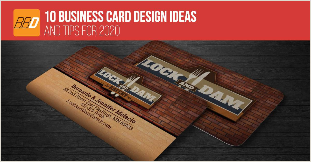 2020 Best Business Cards 10 Business Card Design Ideas And Tips For 2020