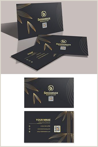 51 Unique Business Cards Black Gold Simple High End Leaf Business Card Pikbest