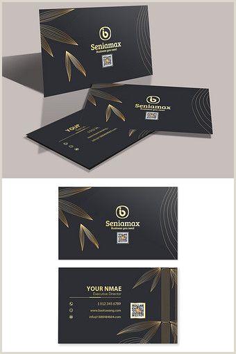 51 Unique Business Cards Black Gold Simple High End Leaf Business Card Pikbest