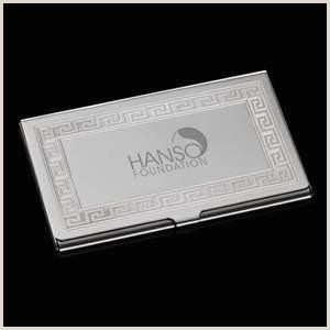 A Buisness Card Promotional Traverse Business Card Holder Personalized With