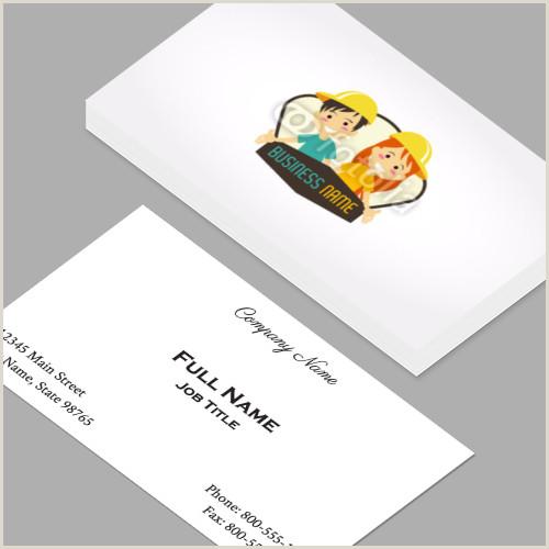 A Business Cards Business Cards Standard Horizontal Customizable Design