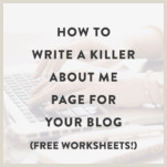About Me Sample For Blog How To Write A Killer About Me Page For Your Blog Melyssa