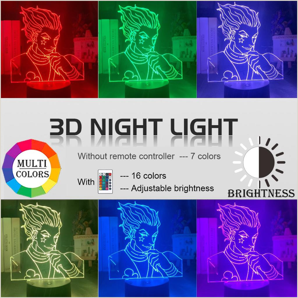Adding Unique Touches To Business Cards 2020 Kids Night Light Gift Led Touch Sensor Colorful Bedroom Nightlight Anime Hunter X Hunter Decor Light Cool 3d Lamp Hisoka Gad S From