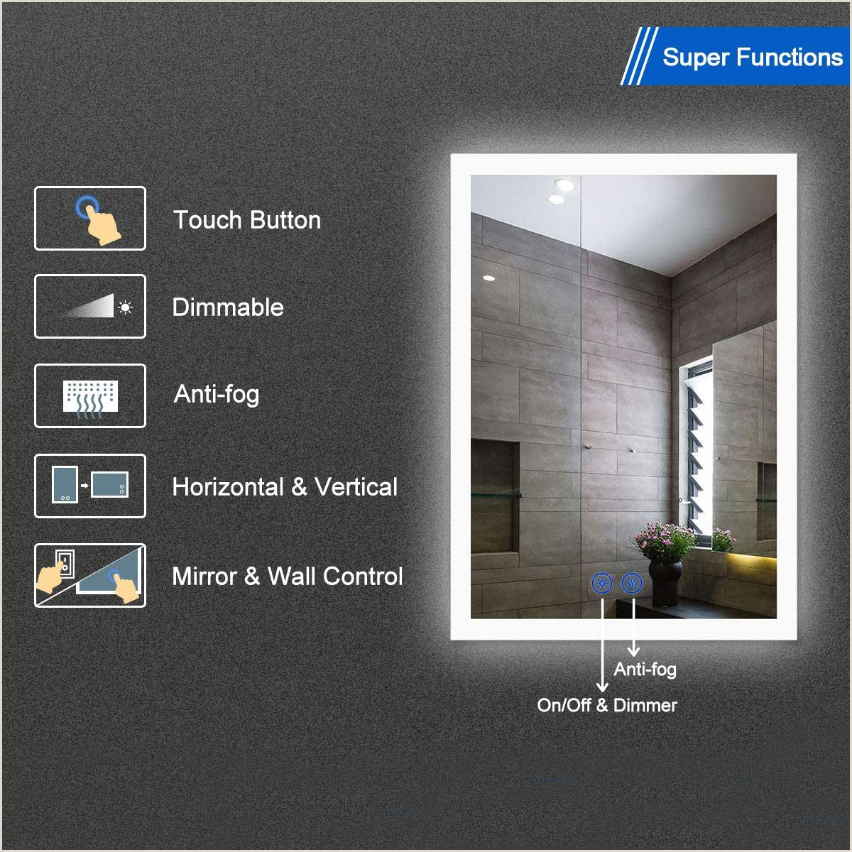 Adding Unique Touches To Business Cards Decoraport Dimmable Led Wall Mounted Mirror With Antifog Lighted Vanity Bathroom Mirror With Touch Button 20×28 Inch Vertical & Horizontal Mount