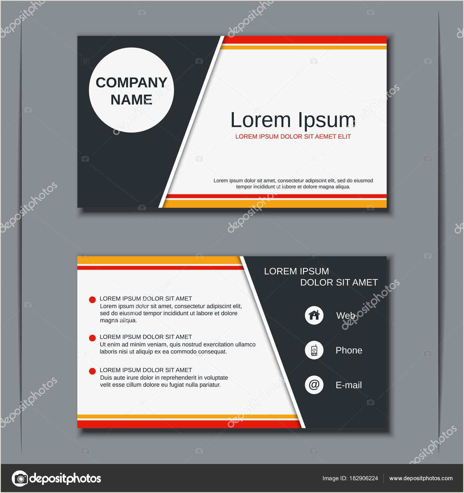 Agency Business Cards Business Visiting Card Vector Design Template