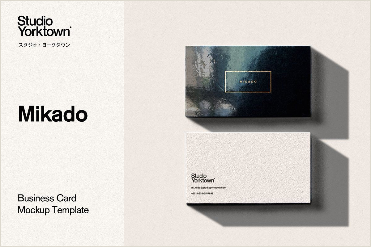 Are Square Business Cards A Good Idea Mikado Business Card Mockup Template