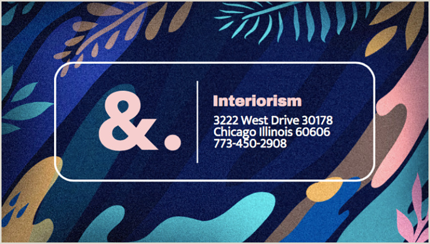 Art Business Card 20 Best Artistic Business Card Designs For Creatives