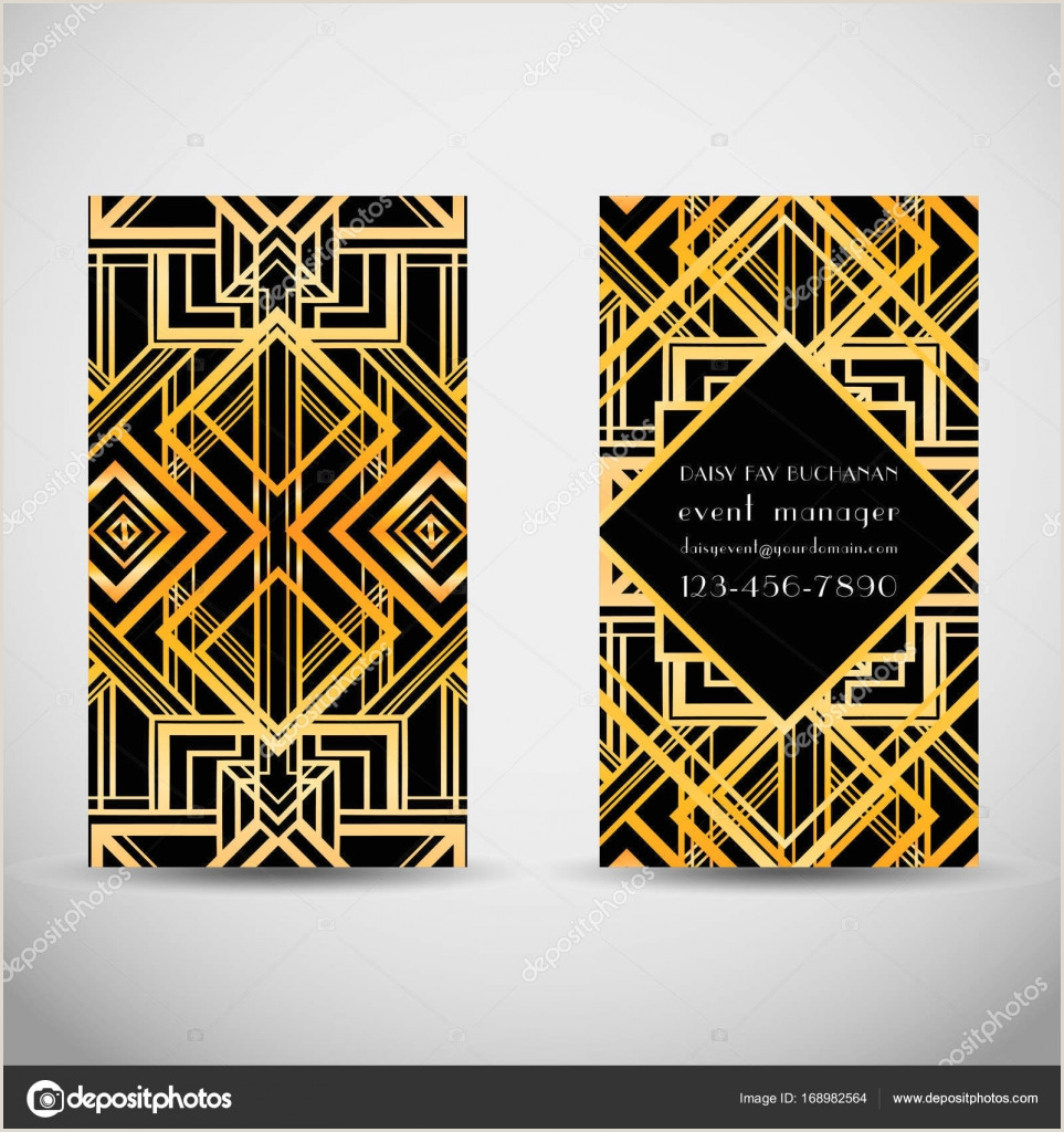 Art Business Card Art Deco Style Business Card