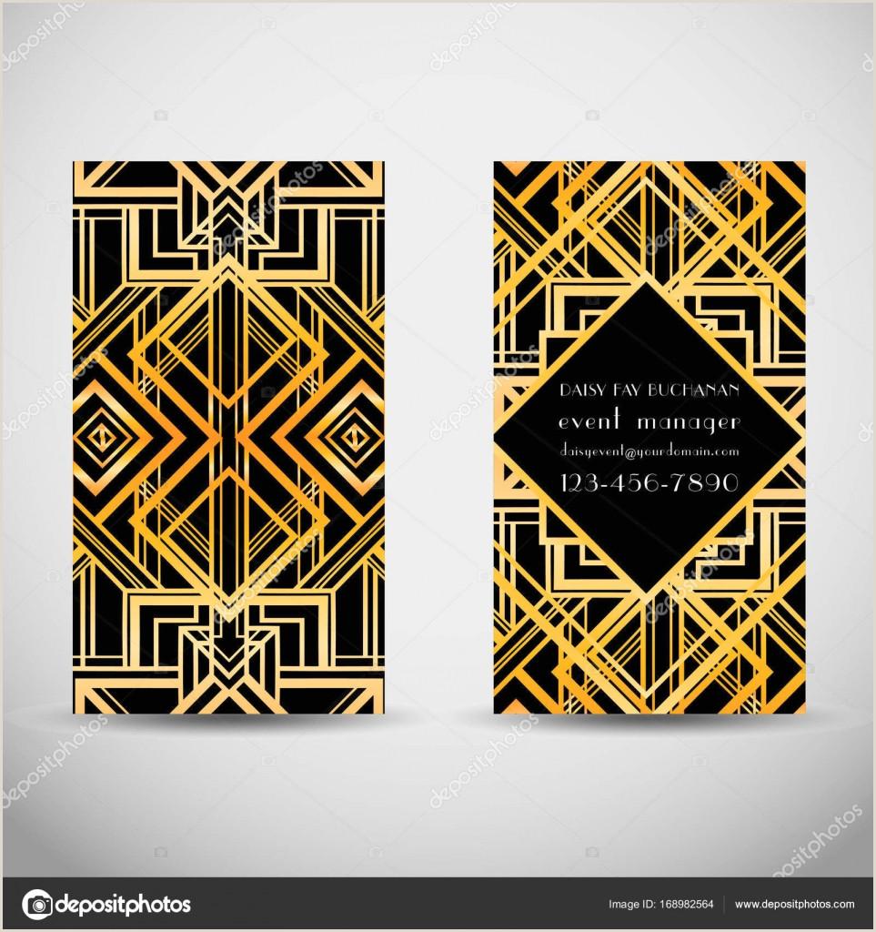Art Business Card Art Deco Style Business Card