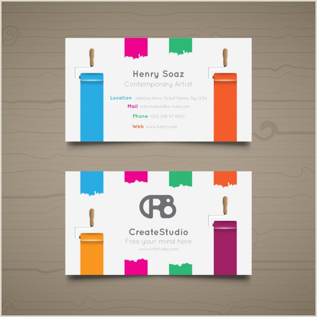 Art Business Card Free Vector