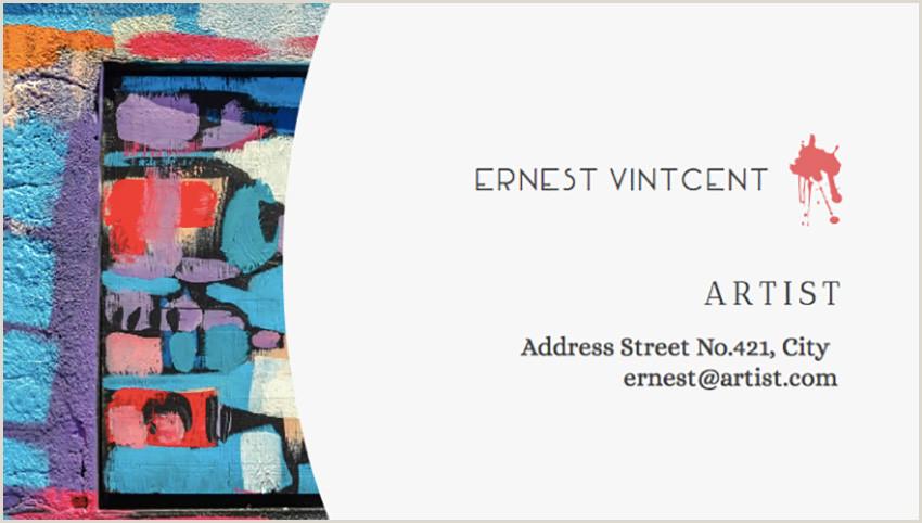 Artist Business Card Designs 20 Best Artistic Business Card Designs For Creatives