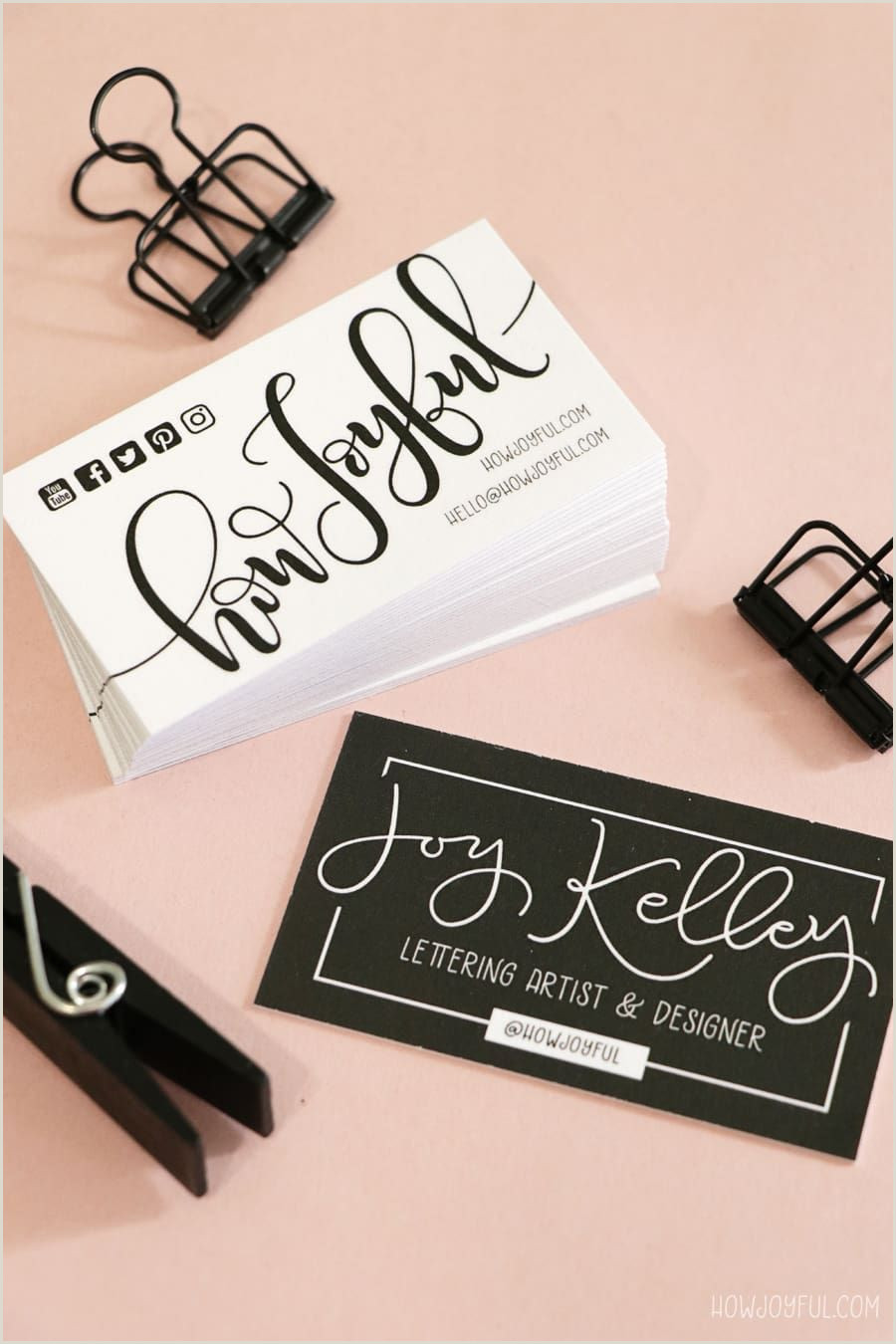 Artist Business Card Examples Diy Ombré Painted Edge Business Cards