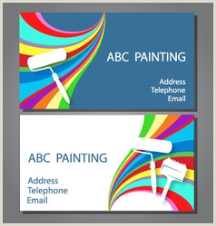 Artist Business Card Examples Painting Artist Business Card Vector Over 4 700