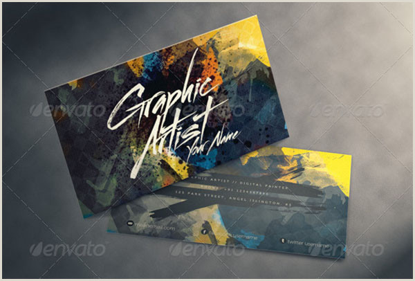 Artist Business Cards Ideas 49 Artist Business Card Templates Free Psd Vector Png Ai