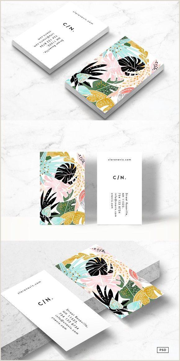 Artist Business Cards Ideas Tropical Business Card Template