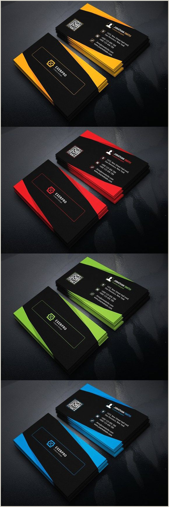 Artistic Business Cards Corporate Business Card Template