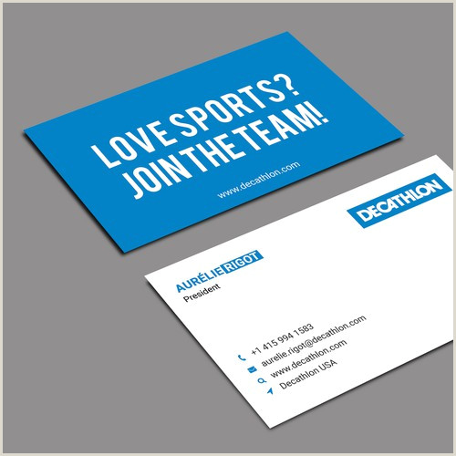 Attractive Business Cards Design A Smart And Simple Visit Card For A Sporting Goods
