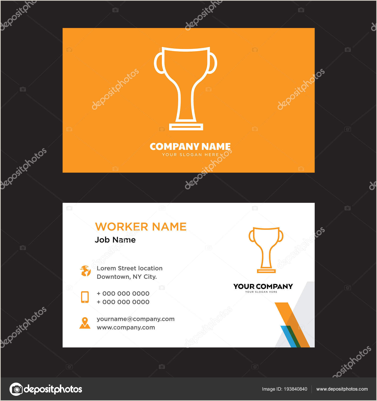 Award Winning Business Cards Winner Award Business Card Design