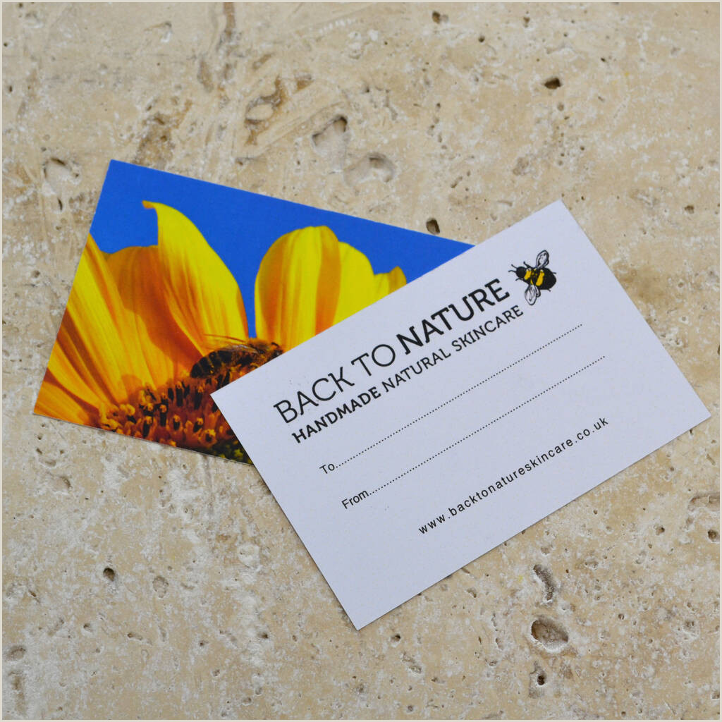 Back Of A Business Card Lavender Natural Aromatherapy Candle
