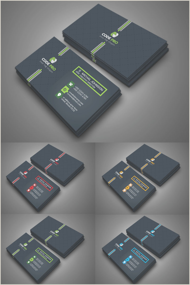 Back Of Business Card Template Back Color Business Card Corporate Identity Template In 2020