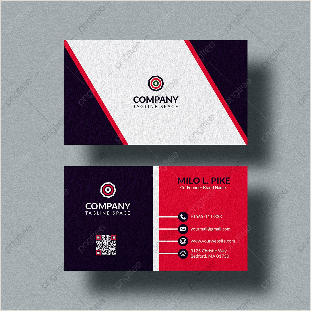 Back Of Business Card Template Business Card Format Png