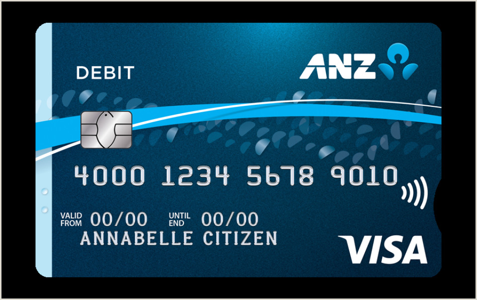 Back Of Business Cards Anz Personal Banking