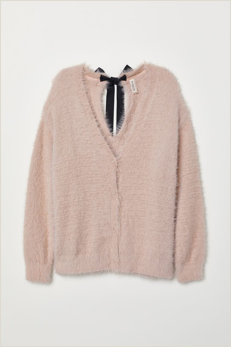 Back Of Business Cards Fluffy Cardigan